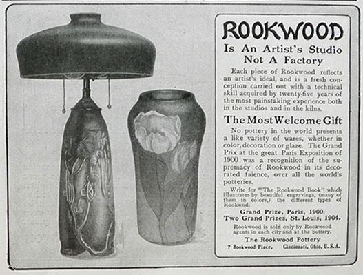 Antique Rookwood advertisement